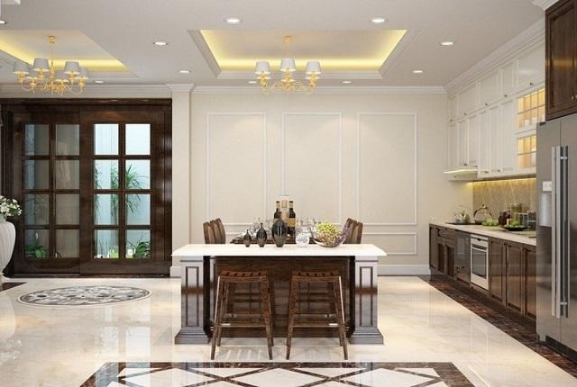 Mẫu trần bằng thạch cao cho phòng ăn, phòng bếp