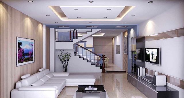 Mẫu trần bằng thạch cao cho phòng khách