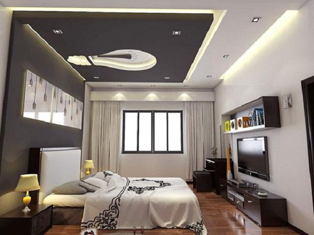 Mẫu trần bằng thạch cao cho phòng ngủ