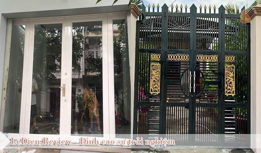 Mẫu Cửa Cổng Sắt 4 Cánh Đẹp